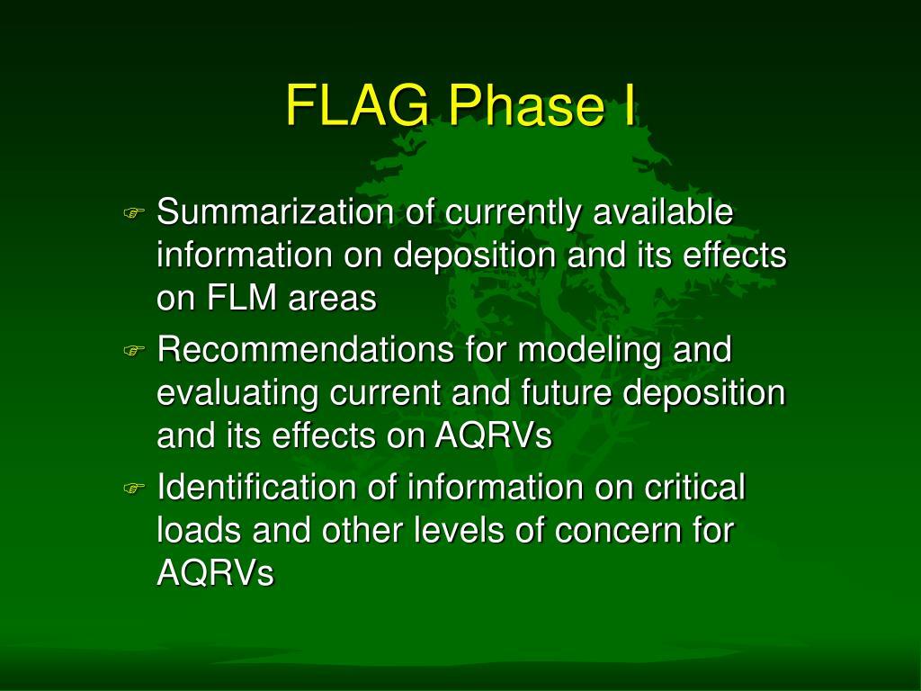 FLAG Phase I
