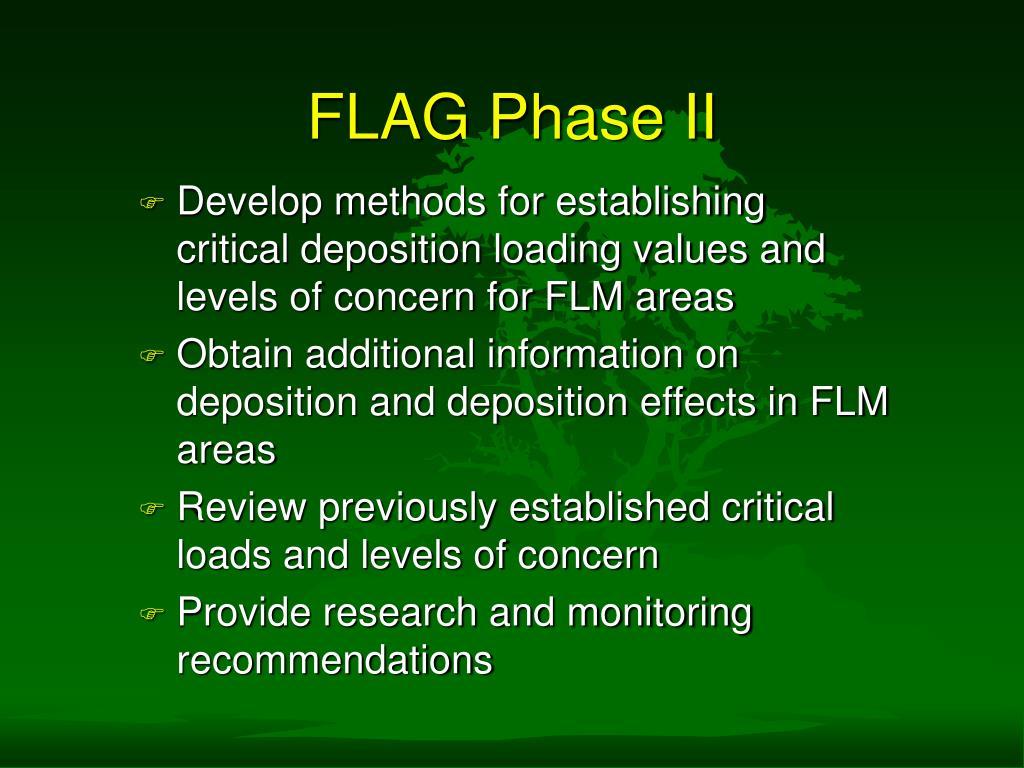 FLAG Phase II
