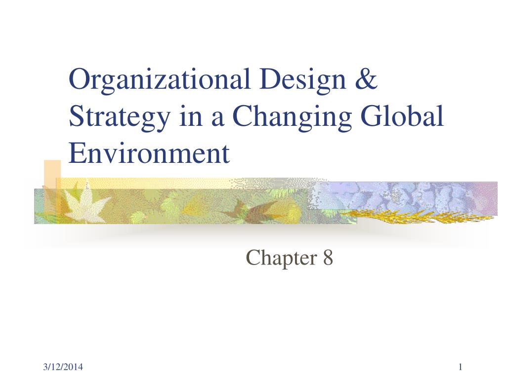 organizational design strategy in a changing global environment l.