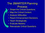 the smarter planning process