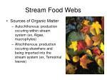 stream food webs