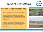 status of ecosystems