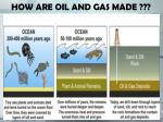 how are oil and gas made