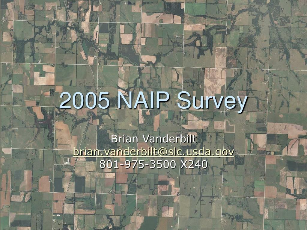 2005 naip survey l.