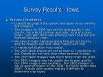 survey results iowa18