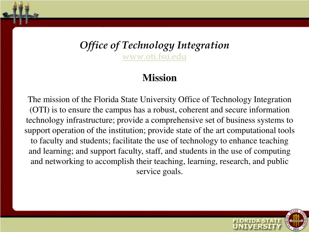 office of technology integration www oti fsu edu l.