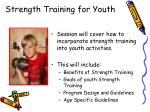 strength training for youth