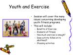 youth and exercise