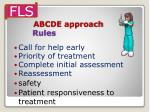 abcde approach rules