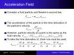 acceleration field
