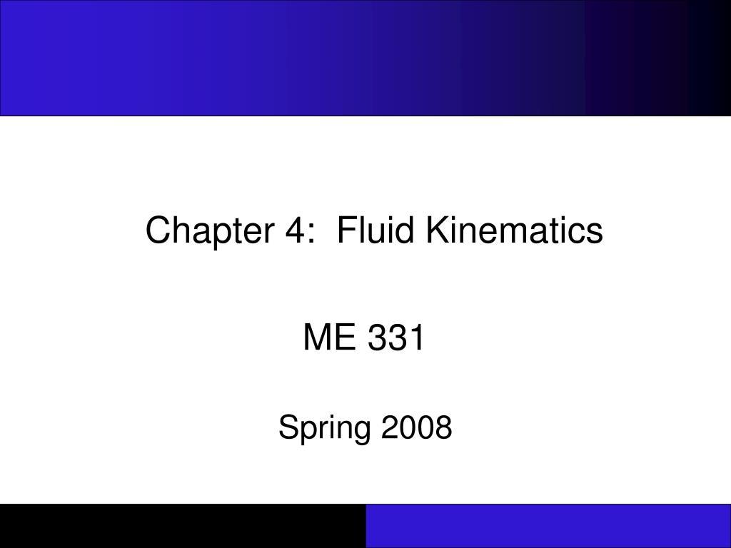 chapter 4 fluid kinematics l.