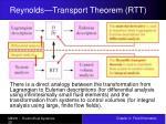 reynolds transport theorem rtt29