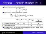 reynolds transport theorem rtt30