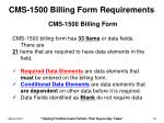 cms 1500 billing form requirements