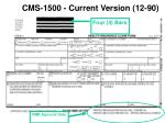 cms 1500 current version 12 90