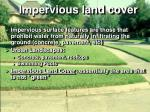 impervious land cover