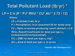 total pollutant load lb yr