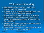 watershed boundary