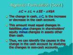 algebraic formulation cont