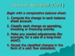 columnar worksheet cont