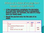 effects of a sale of a long term assets on cash flows