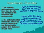 rapid review true false