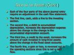 sale of an asset cont