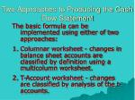 two approaches to producing the cash flow statement