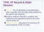 t430 hf recycle water absorber