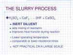 the slurry process