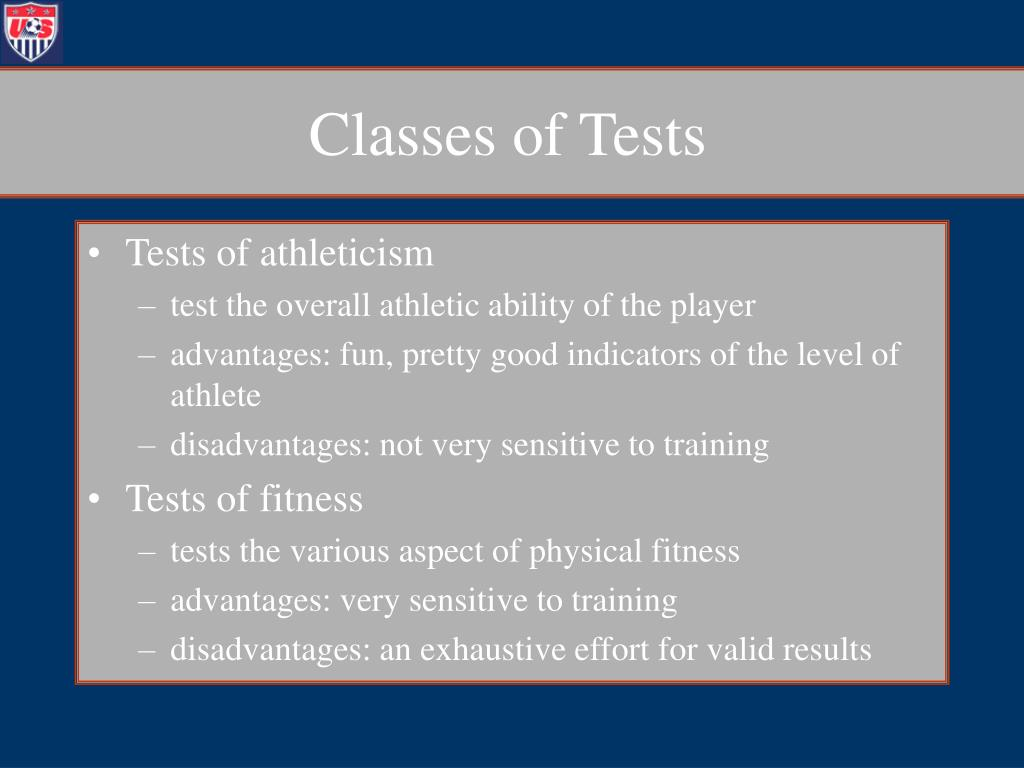 Classes of Tests