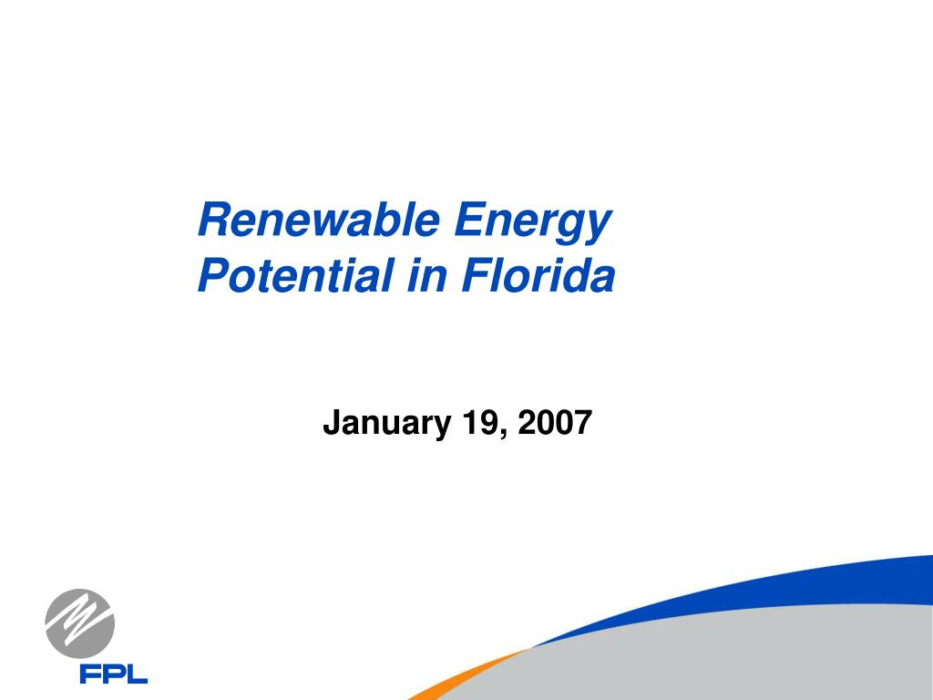 renewable energy potential in florida l.