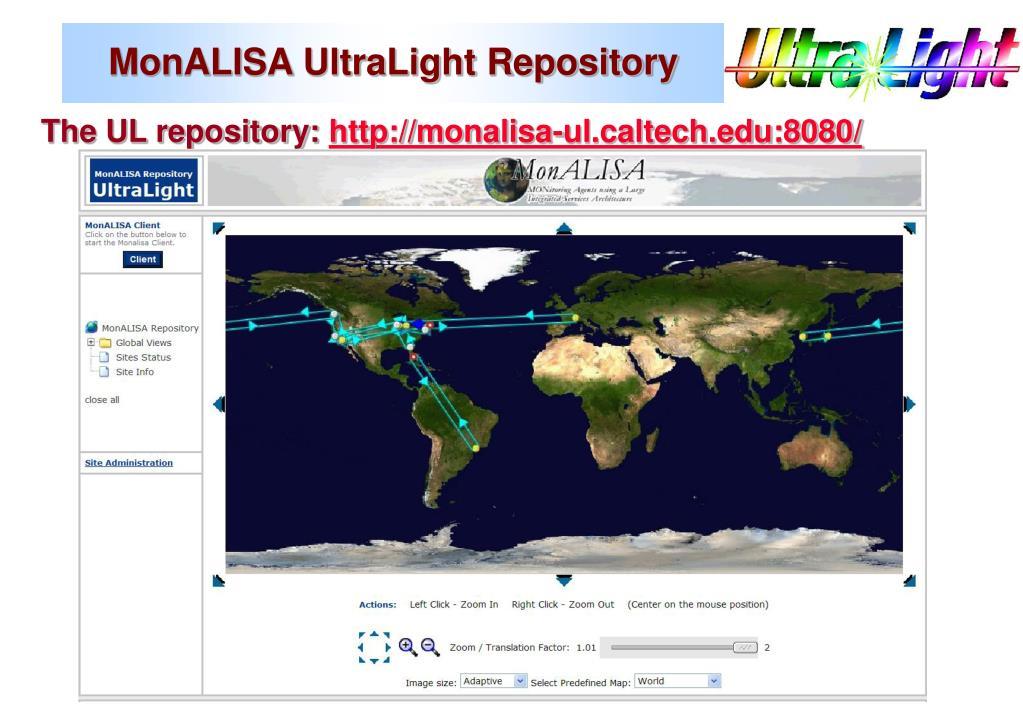 MonALISA UltraLight Repository