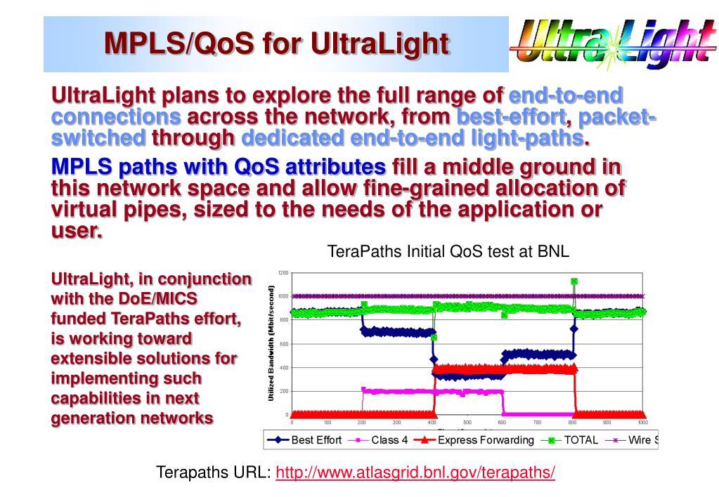 MPLS/QoS for UltraLight