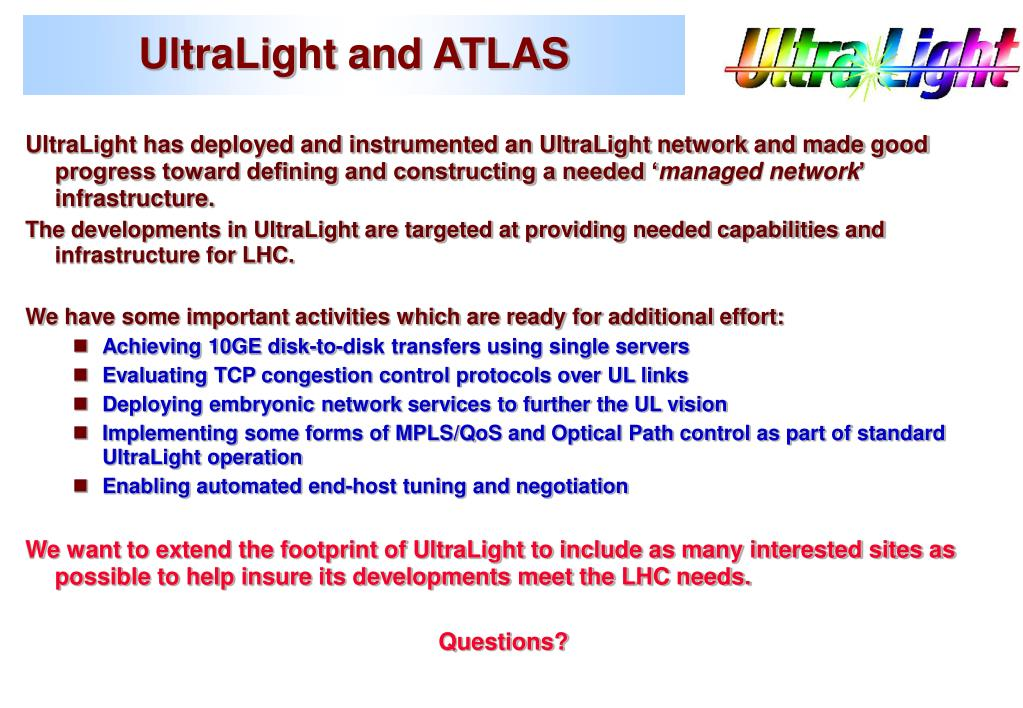 UltraLight and ATLAS