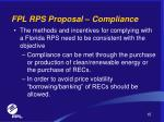 fpl rps proposal compliance