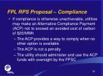 fpl rps proposal compliance16