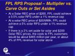 fpl rps proposal multiplier vs carve outs or set asides9