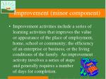 improvement minor component