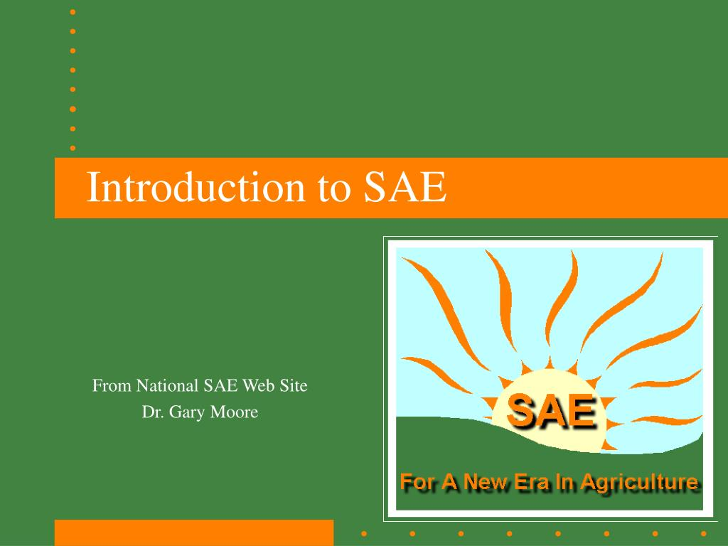 introduction to sae l.