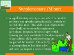 supplementary minor