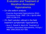 evaluation and treatment of marathon associated hyponatremia