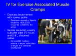 iv for exercise associated muscle cramps