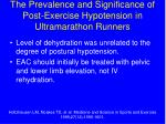 the prevalence and significance of post exercise hypotension in ultramarathon runners