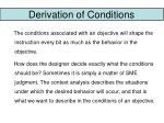 derivation of conditions20