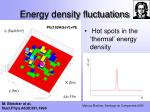 energy density fluctuations