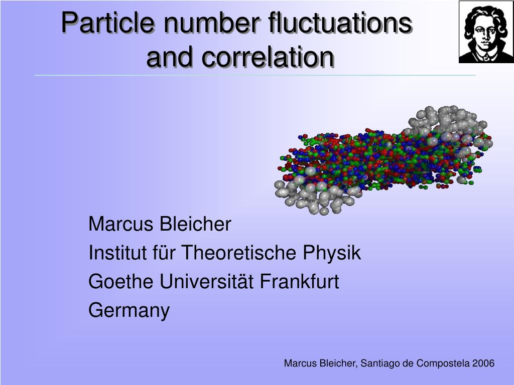 particle number fluctuations and correlation l.