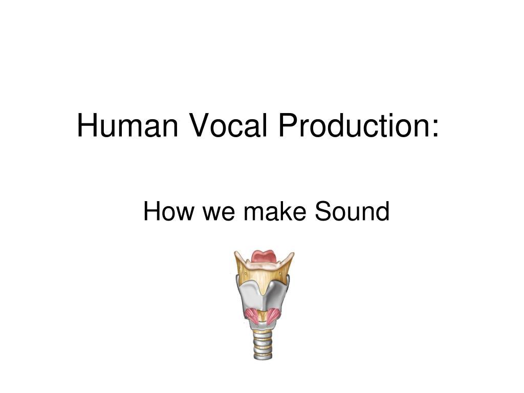 human vocal production l.