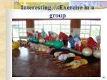interesting exercise in a group