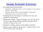 design example summary